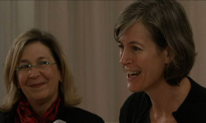 Joann Paley Galst (left) and Louise Sloan at a Choice Mom networking event in NYC