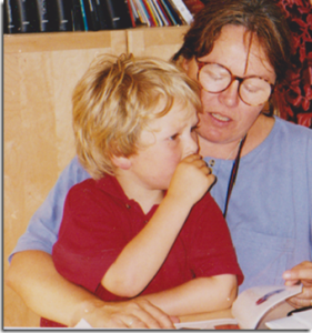 Emily and son in early days